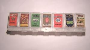 weekly medicine container.