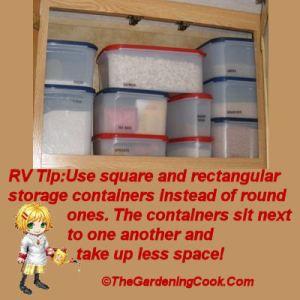 Kitchen area storage