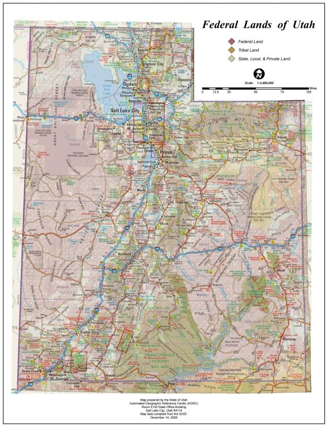 Truck Camper Hints Utah Federal Land Map