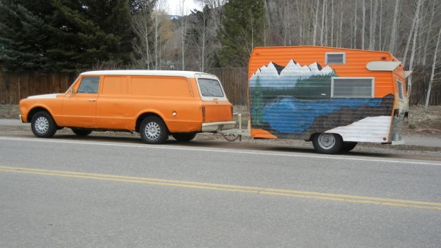 Orange trailer