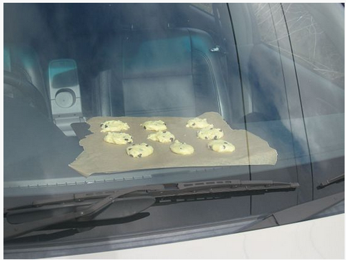 Cooking cookies on the dashboard