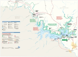 Amistad National Recreation Area Map