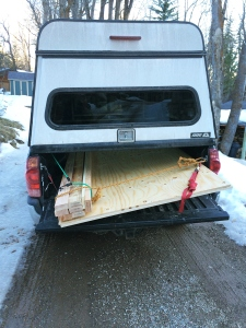 Start of Truck Bed Construction