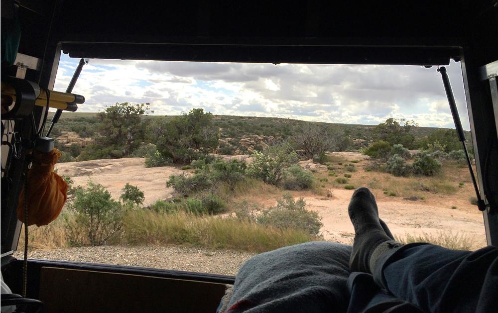 Toes truck camping at Mesa Verde