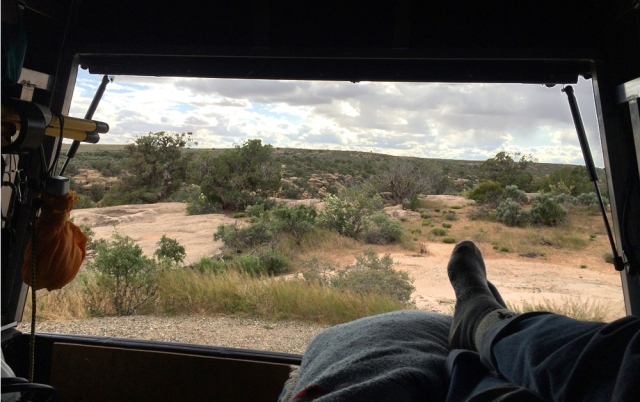 Toes truck camping at Hovenweep
