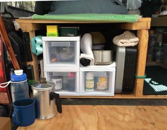 truck camping InteriorKitchen