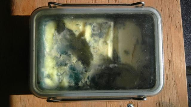 Moldy butter