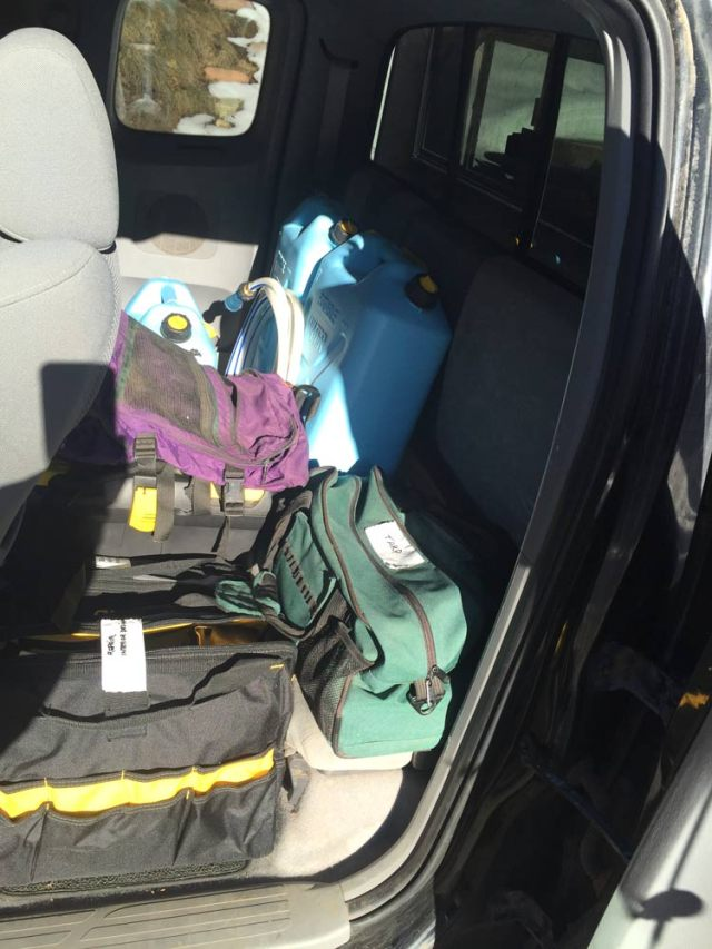 Back Seat Packing for Truck Camping
