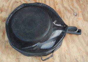 kitchen pans in their bag