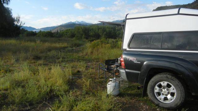 Truck camping in Colorado