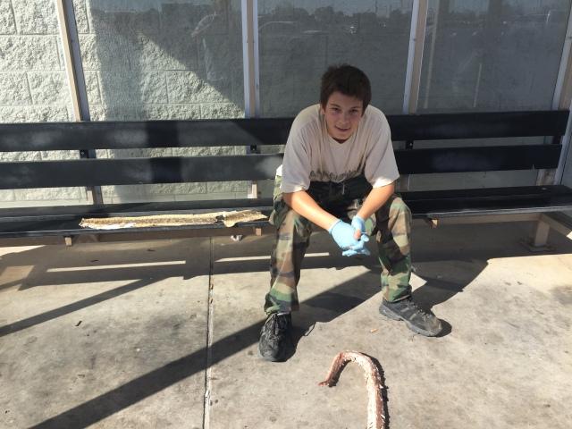 snake boy at Walmart