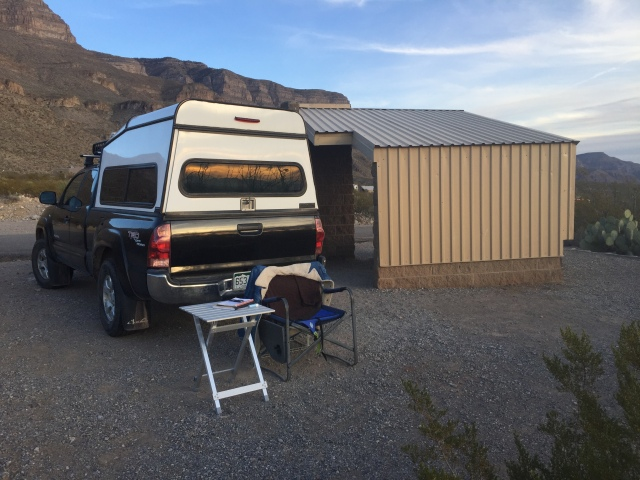 Oliver Lee truck camping spot