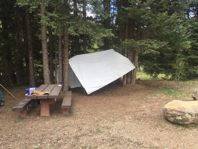 tarp while truck camping