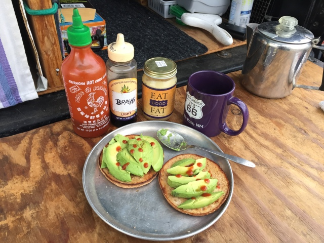 truck camper avocado lunch