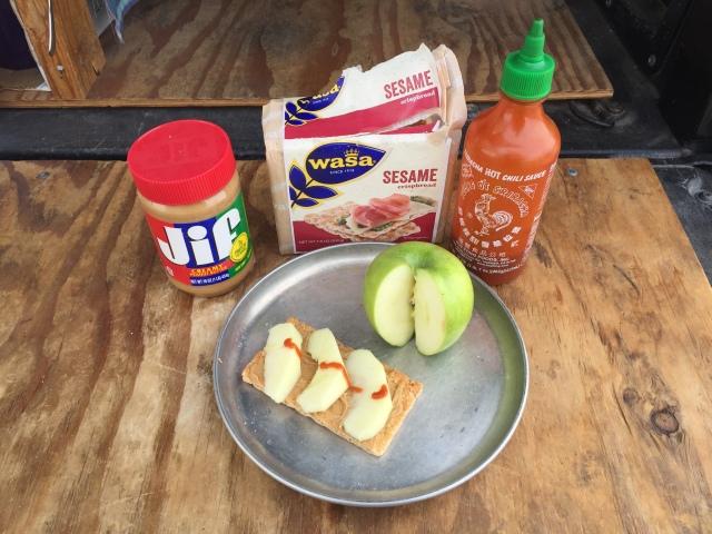 truck camper lunch