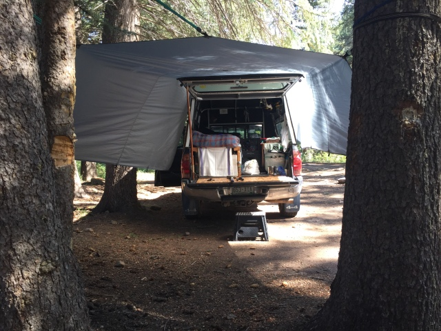 Back of truck with tarp